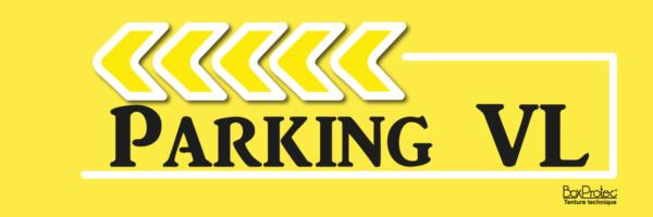 plaque de direction parking véhicule léger jaune fléchage boxprotec
