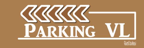 fléchage parking véhicule léger marron fléchage boxprotec