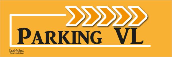 panneau de direction parking véhicule léger orange fléchage boxprotec