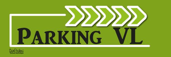 flèche de direction parking véhicule léger vert fléchage boxprotec