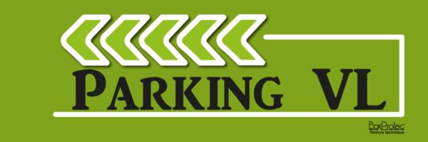 fléchage directionnelle parking véhicule léger vert boxprotec