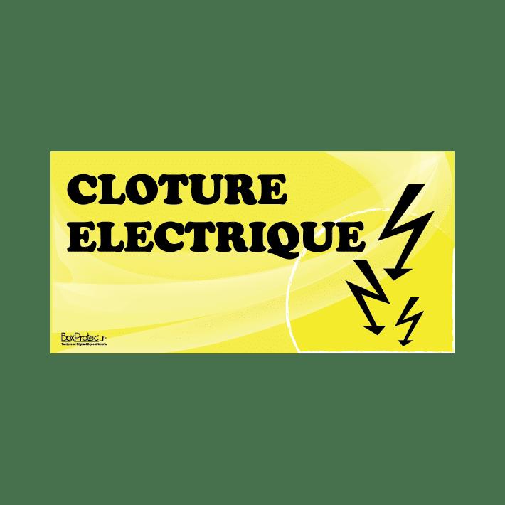 panneau clôture électrique jaune