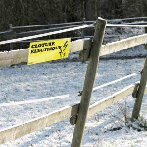 panneau clôture électrique