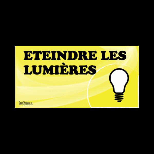 panneau éteindre les lumières jaune