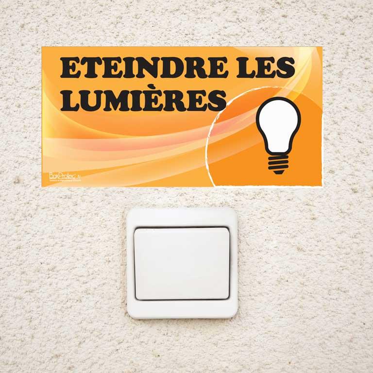 plaque éteindre les lumières