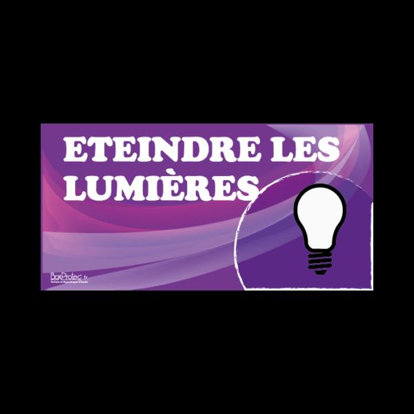 panneau éteindre les lumières violet