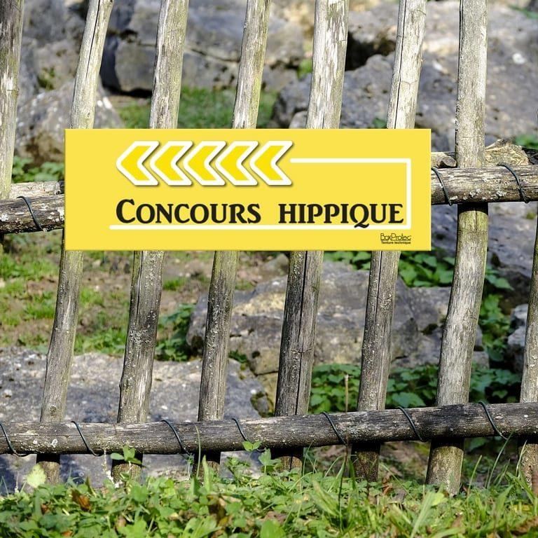 panneau de fléchage concours hippique
