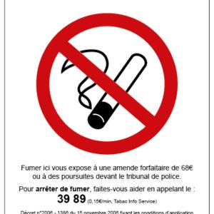 Panneau légal INTERDIT DE FUMER-0