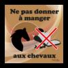 panneau ne pas donner à manger aux chevaux marron