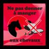 panneau ne pas donner à manger au cheval rouge
