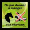panneau ne pas donner à manger au cheval vert