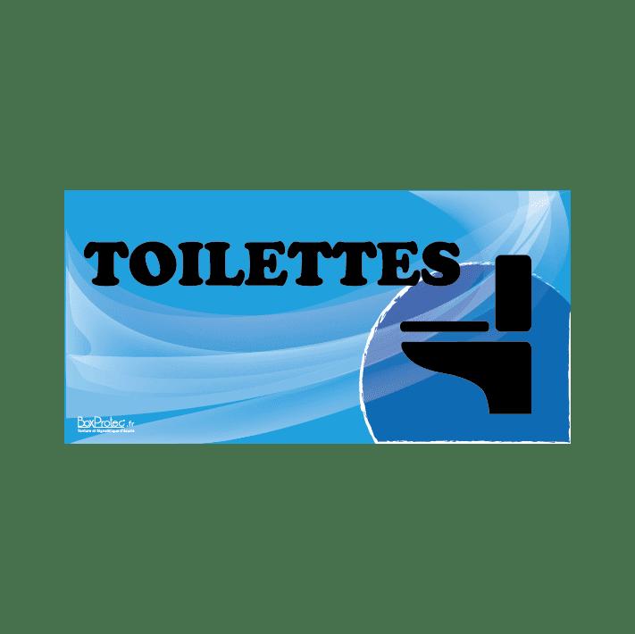 panneau toilettes bleu