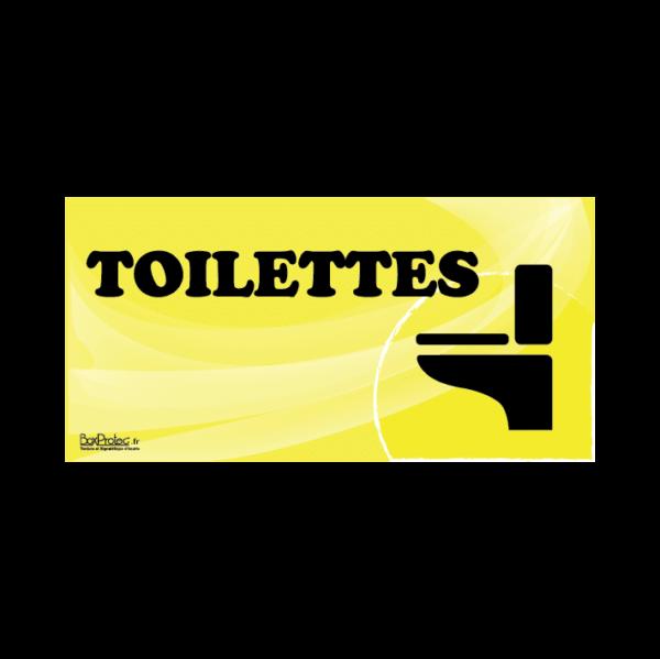 panneau toilettes jaune