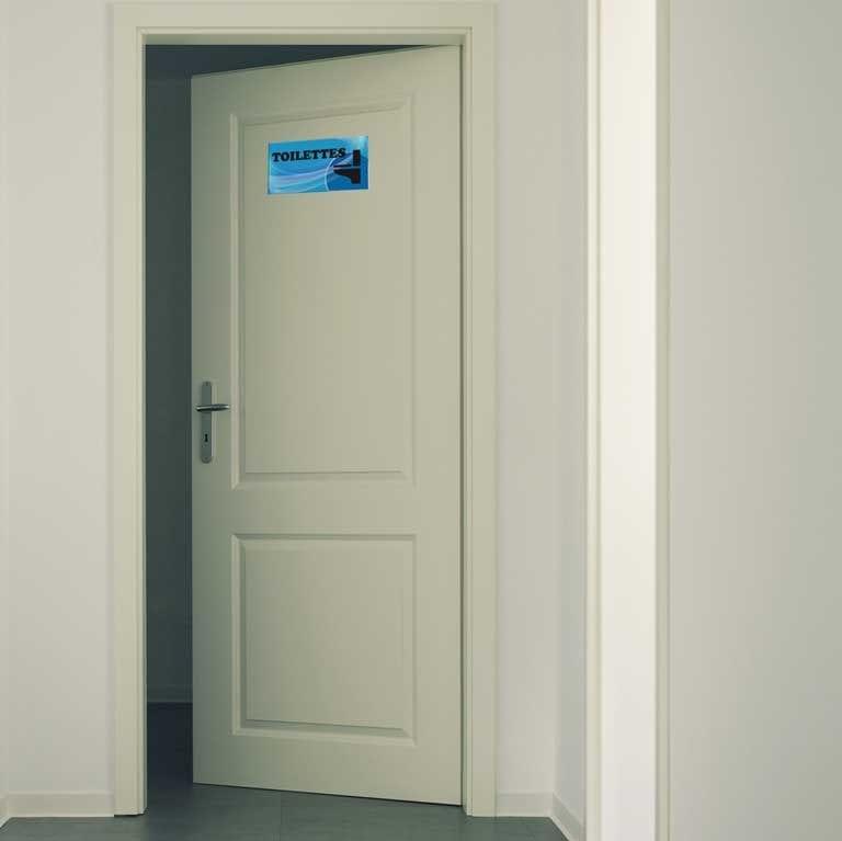 plaque de porte toilettes