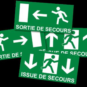 Panneau légal SORTIE DE SECOURS-0