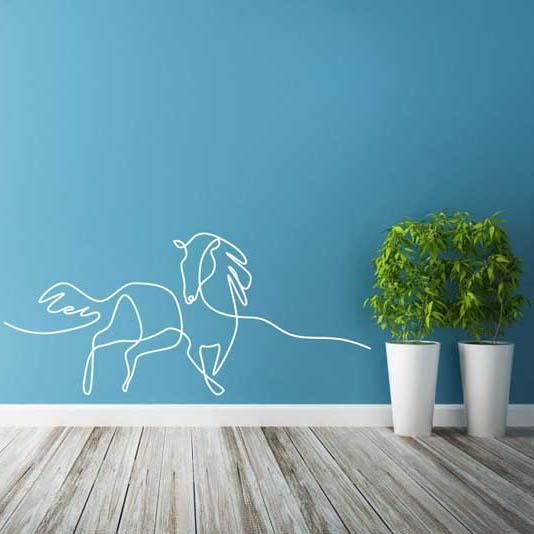 stickers mural cheval décoration intérieur