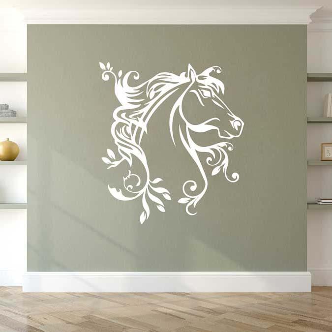 stickers mural cheval décoration intérieur modèle 05