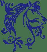 Stickers cheval bleu