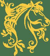 Stickers cheval jaune