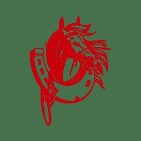 stickers mural cheval rouge décoration intérieur modèle 10