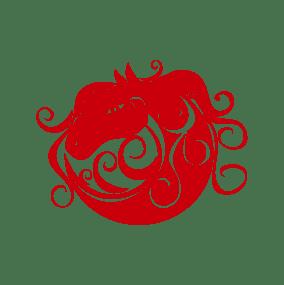stickers mural cheval rouge décoration intérieur modèle 12