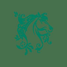 stickers mural cheval vert décoration intérieur modèle 05