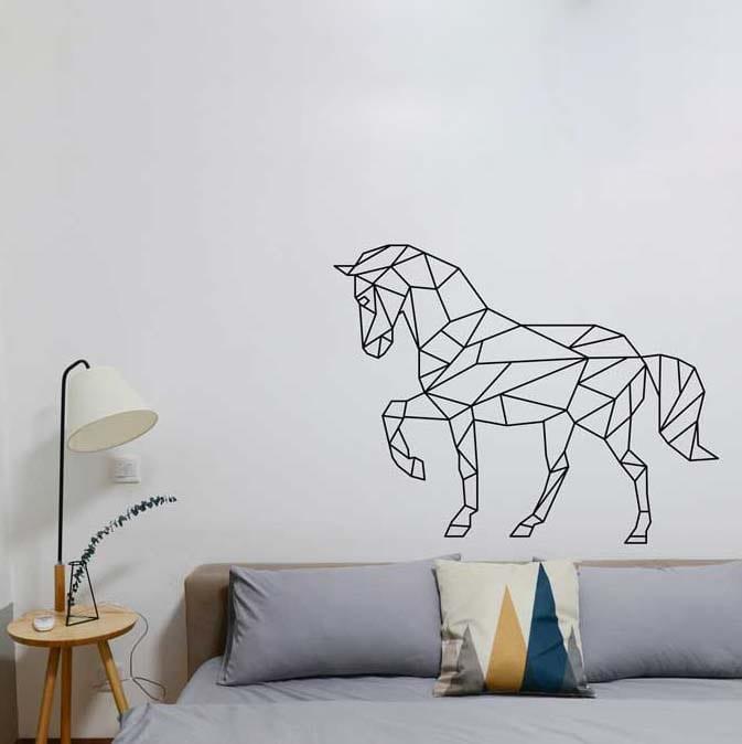 stickers mural cheval décoration intérieur modèle 02