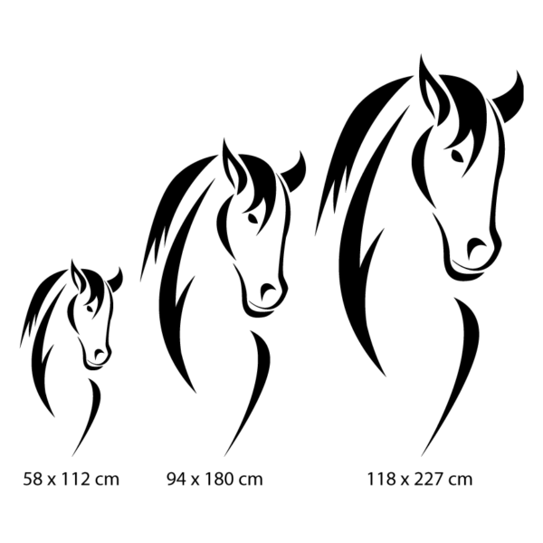 stickers mural cheval décoration intérieur modèle 11