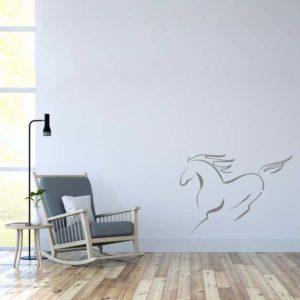 stickers mural cheval décoration intérieur modèle 03