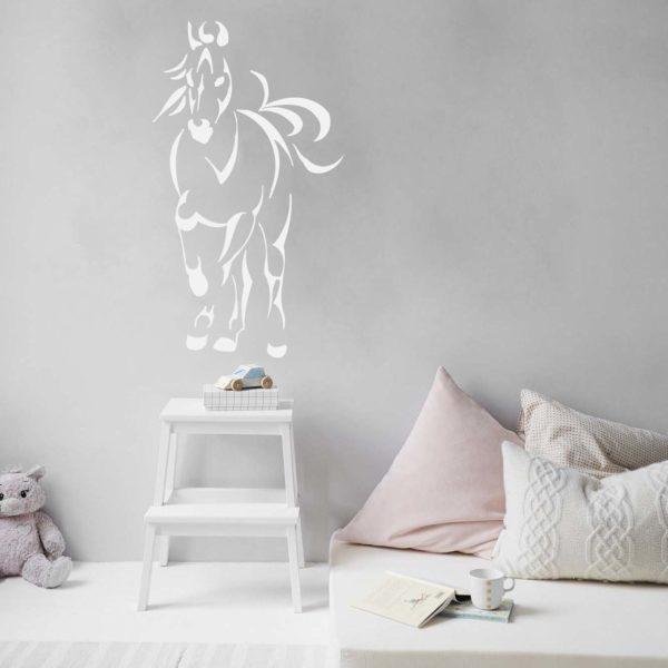 stickers mural cheval décoration intérieur modèle 06