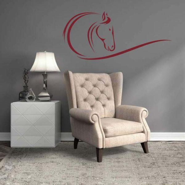 stickers mural cheval décoration intérieur modèle 08