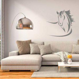 stickers mural cheval décoration intérieur modèle 09