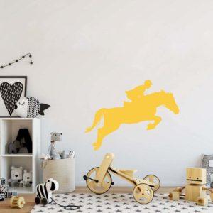 stickers décoration équitation jaune