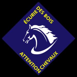 BOXPROTEC - panneau / autocollant / stickers / personnalisable / club / écurie / attention chevaux / cheval / transport / animaux vivants / ecurie des bois / bleu