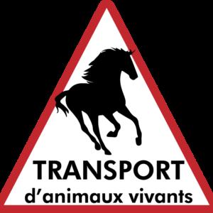 BOXPROTEC - panneau / autocollant / stickers / personnalisable / club / écurie / attention chevaux / cheval / transport / animaux vivants / attention