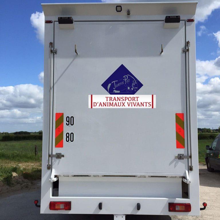 stickers attention transport animaux vivants à personnaliser