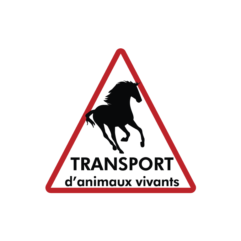 stickers attention transport animaux vivants