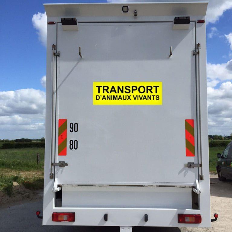 stickers autocollants transport animaux vivants