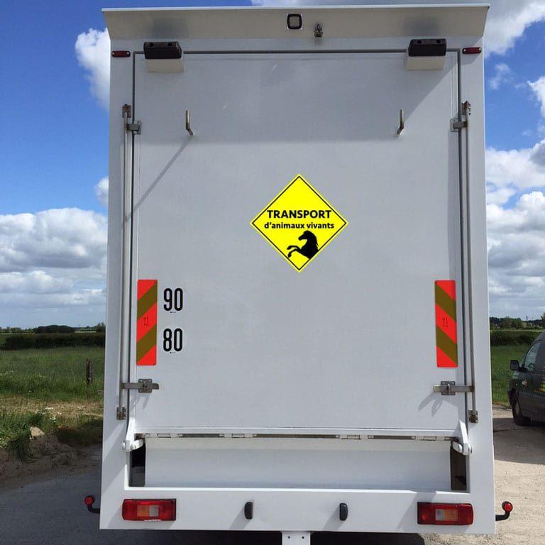 stickers autocollants transport animaux vivants losange
