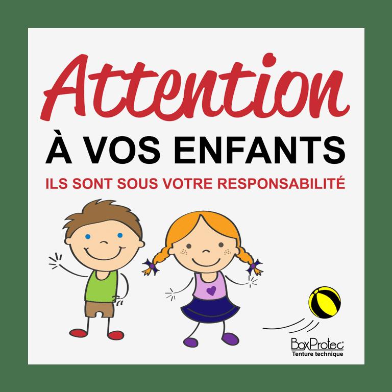panneau attention à vos enfants