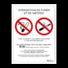 panneau légal interdit de fumer et vapoter