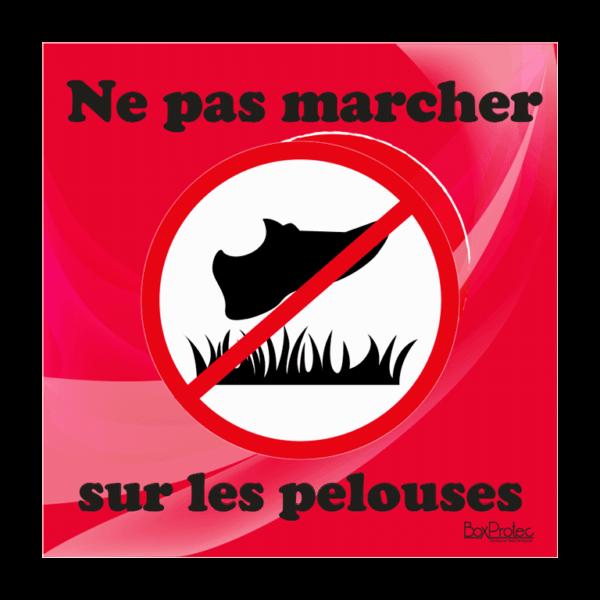 panneau interdit de marché sur les pelouses rouge