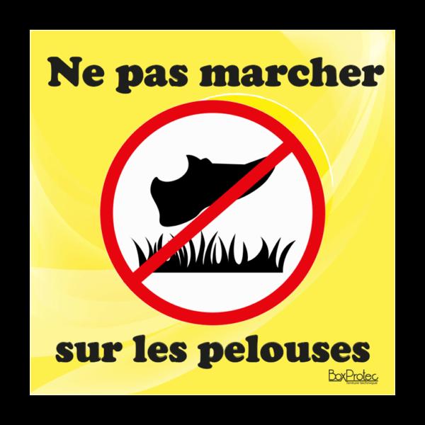 panneau interdit de marché sur les pelouses jaune