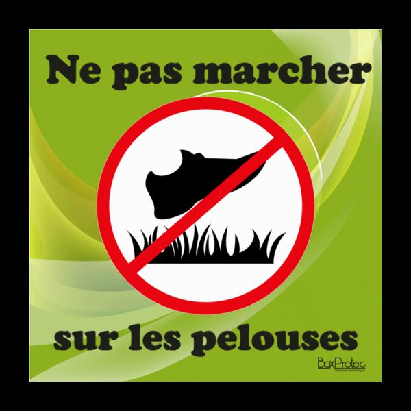 panneau interdit de marché sur les pelouses vert