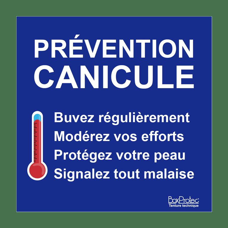 panneau prévention canicule