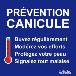 BOXPROTEC - panneau / autocollant / stickers / attention canicule / prévention / conseils / aide