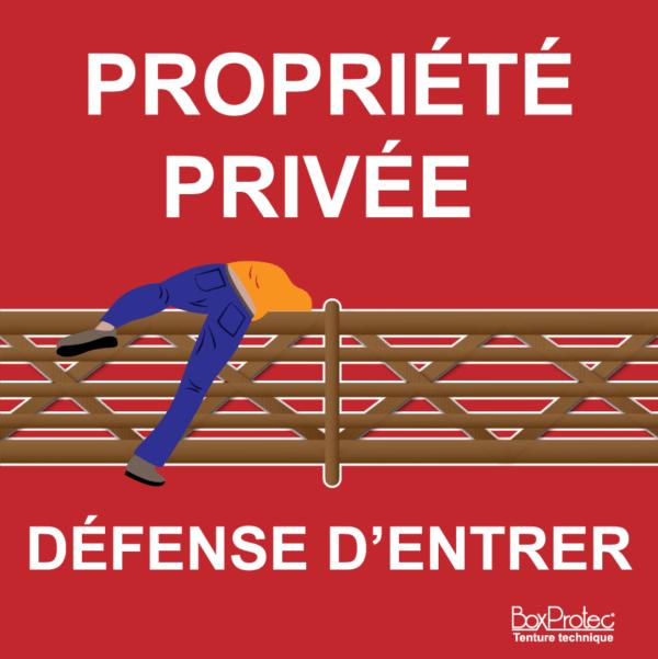 BOXPROTEC - panneau / autocollant / stickers / personnalisable / club / écurie / maison / jardin / humour / réfléchis avant d'entrer / propriété privée / interdiction d'entrer / interdit