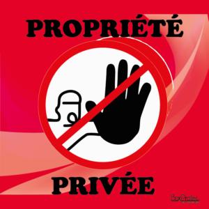 BOXPROTEC - panneau / autocollant / stickers / personnalisable / club / écurie / maison / jardin / réfléchis avant d'entrer / propriété privée / interdiction d'entrer / interdit / fond rouge