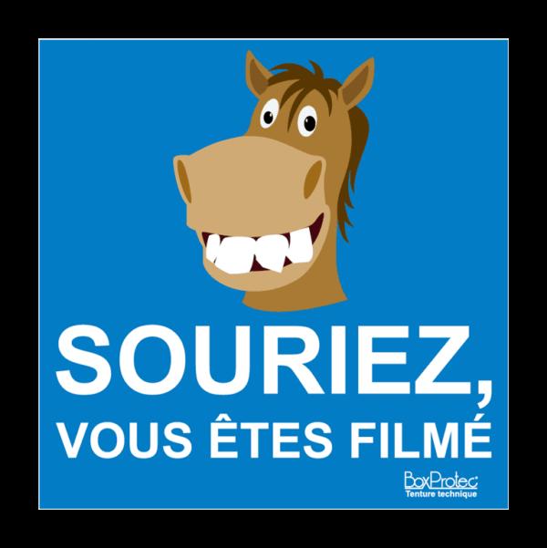 panneau souriez vous êtes filmé cheval