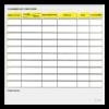 planning effaçable de concours équestre jaune